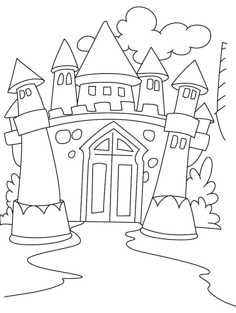 Castle Coloring Pages Printable   Coloring Pages For Kids
