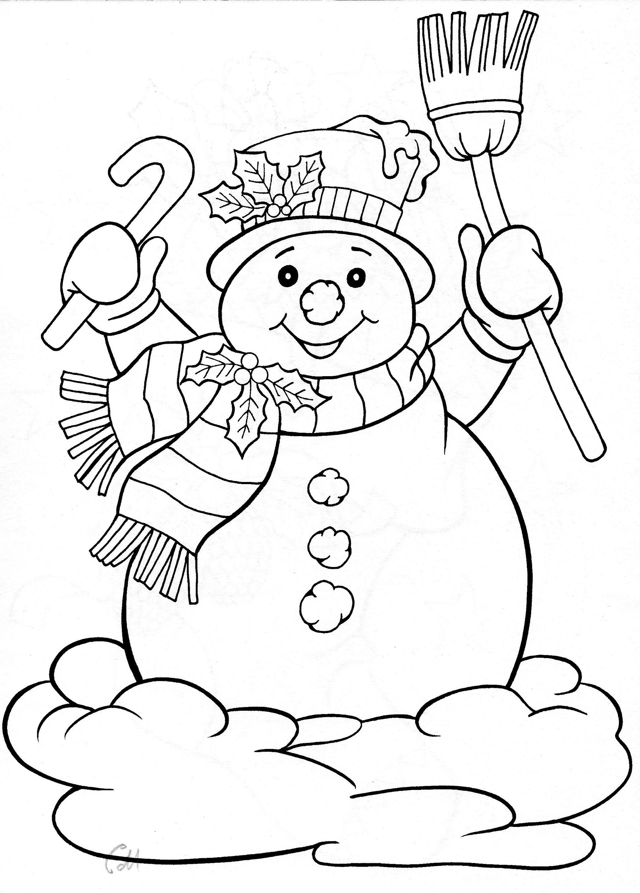 Snowman   Paper Piecing   Christmas Coloring Pages, Coloring