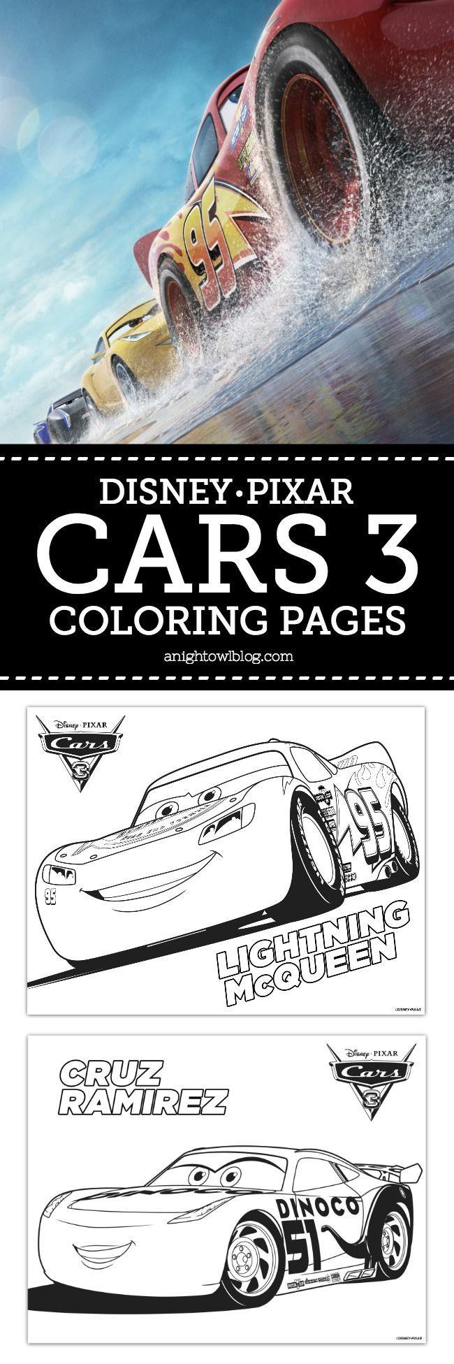 Disney Pixar Cars 3 Coloring Pages | Disney Pixar Cars