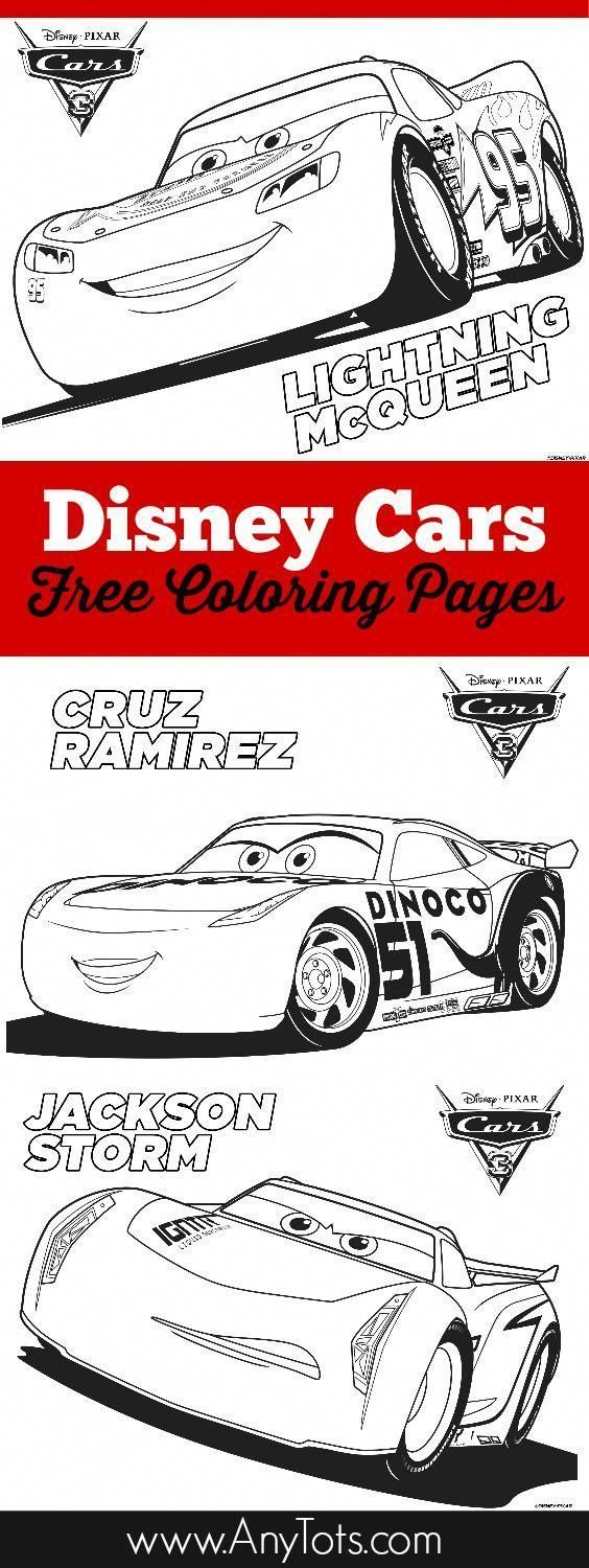 Free Printable Cars Coloring Pages And Bookmark | Anytots