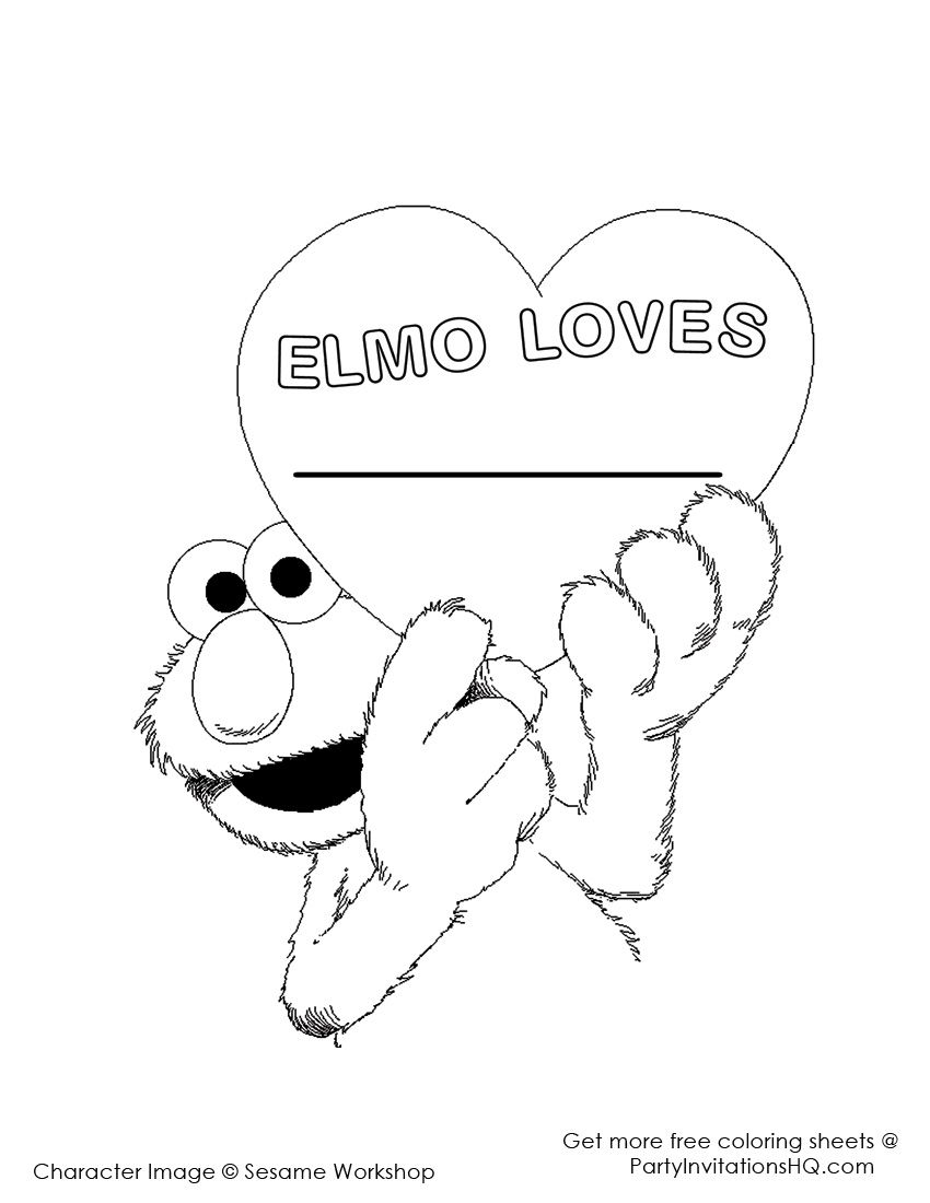 Elmo-coloring-pages-2 | Sesame Street Birthday Party | Elmo