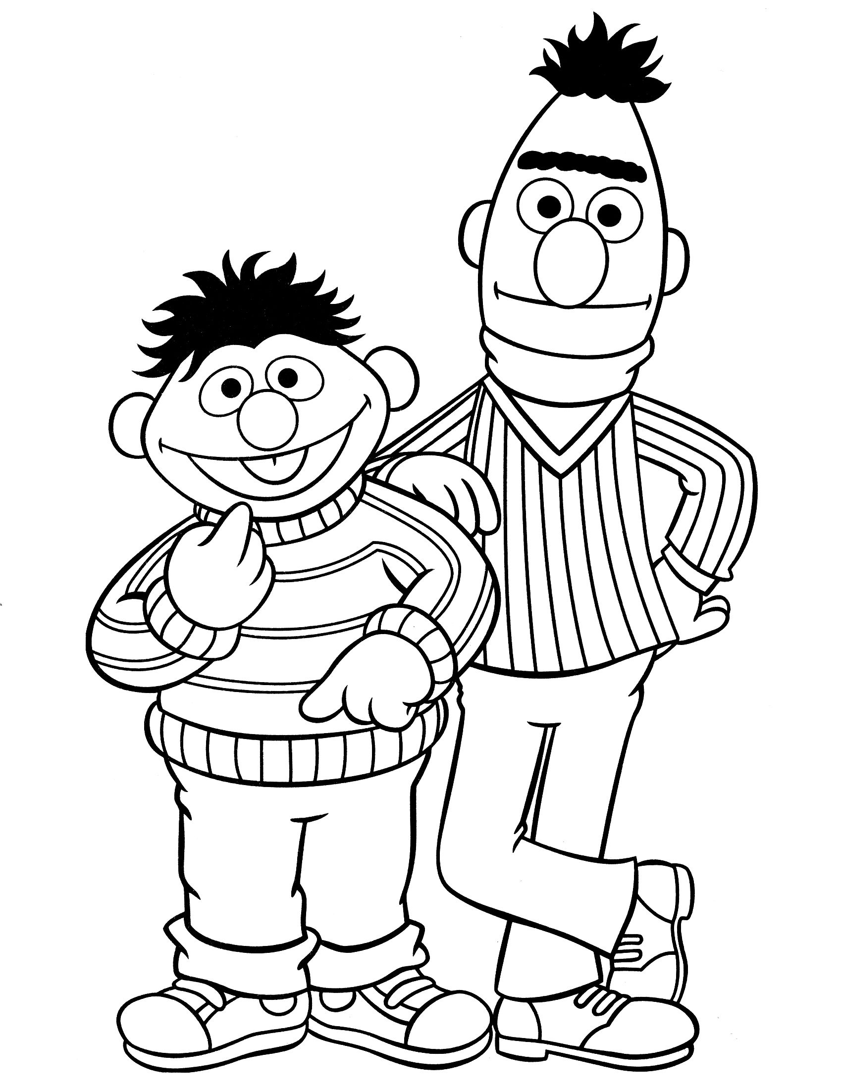 Here We Provide Some Black And White Sesame Street Coloring