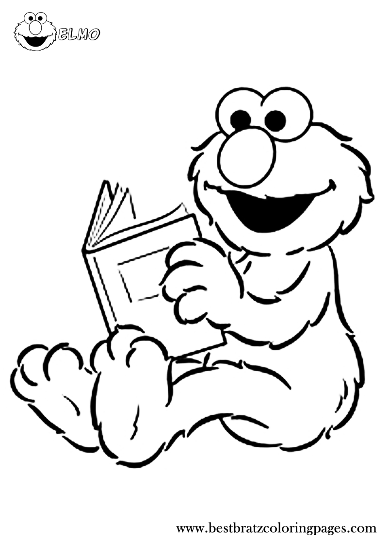 Free Printable Elmo Coloring Pages   Bratz Coloring Pages