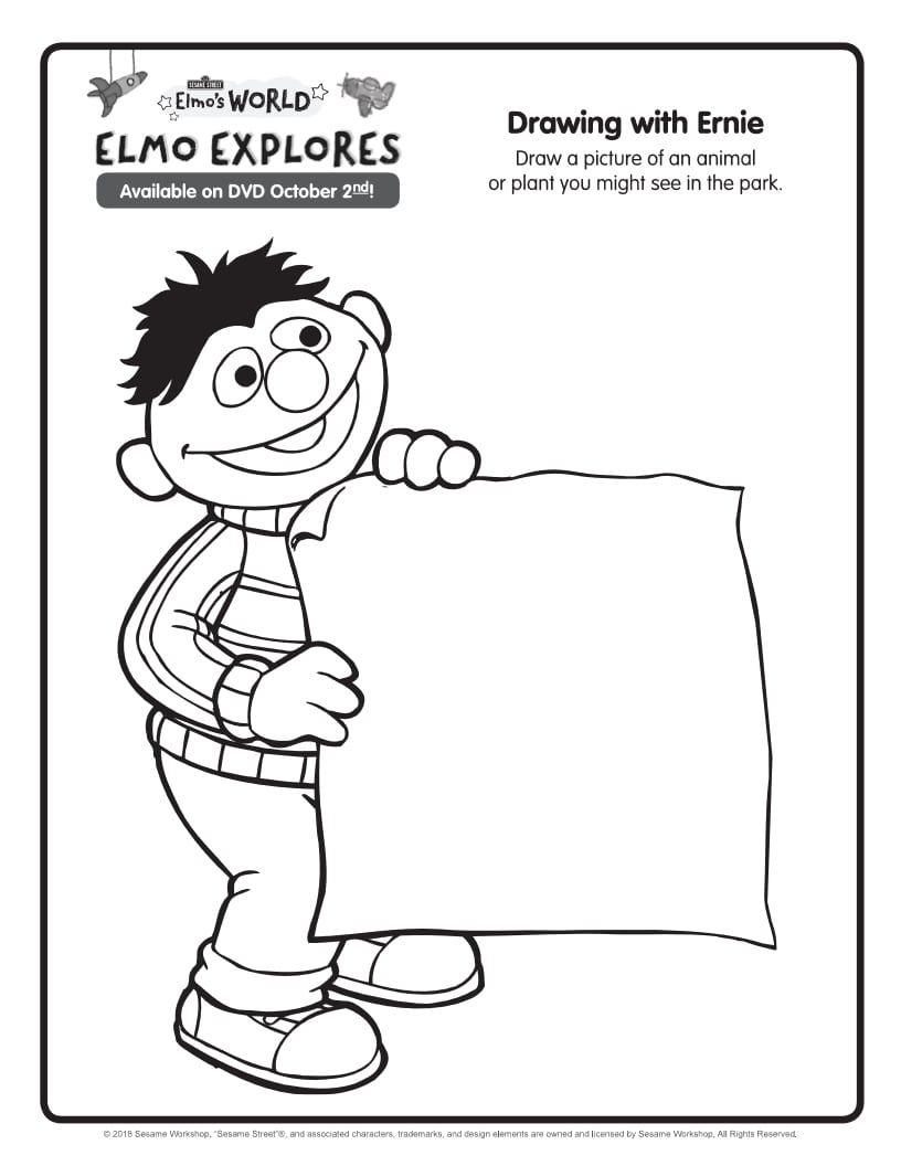 Free Printable Sesame Street Elmo's World Ernie Coloring