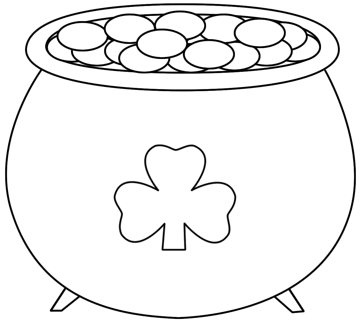 Pot+of+gold+printable   Pot Of Gold - Coloring Pages   Saint