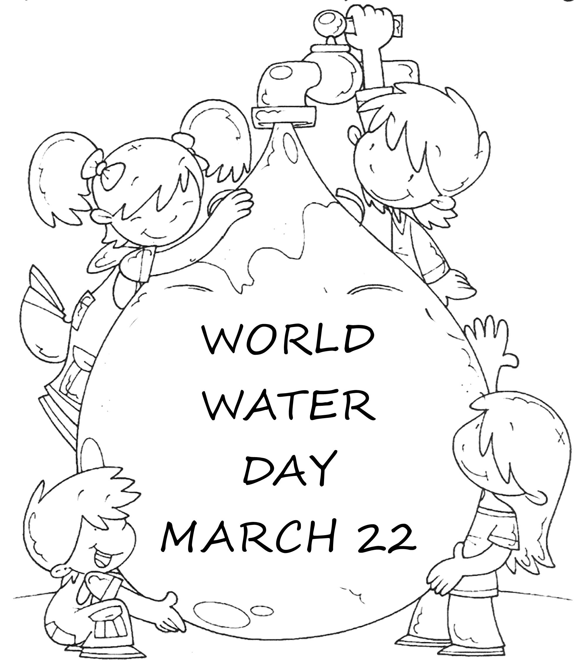 World Water Day Coloring Page Activity | Work Ideas | Free