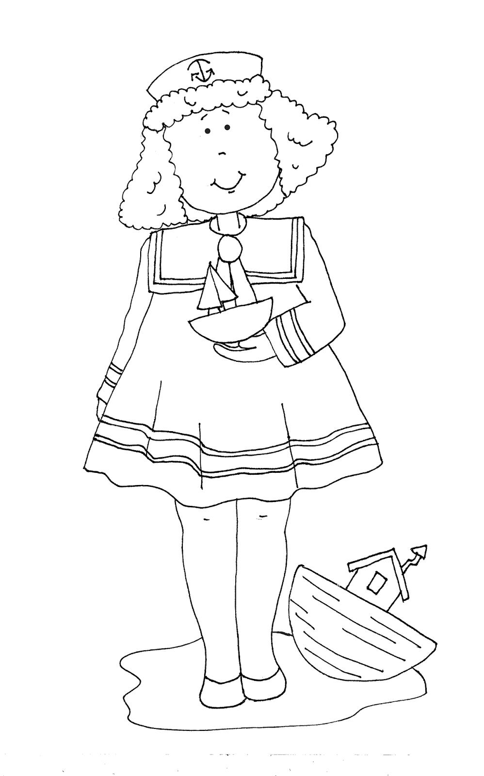 Sailor Girl   Coloring Pages   Digi Stamps, Stamp, Dolls