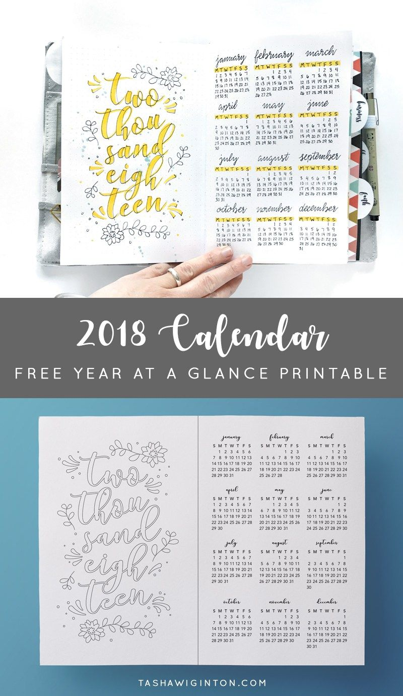 Free 2019 Calendar Printable For Coloring Or Tracing