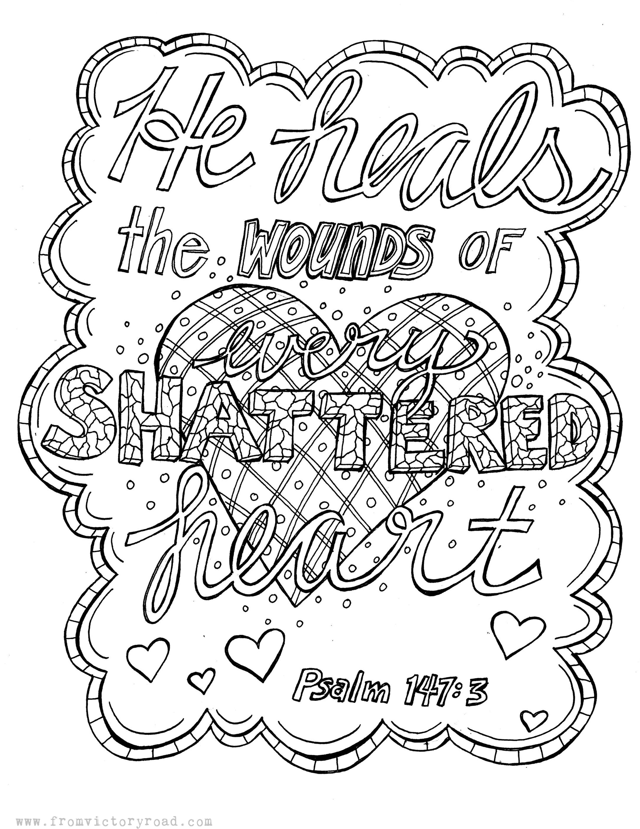 Psalm 147:3 Coloring Page | Scriptures Coloring | Coloring