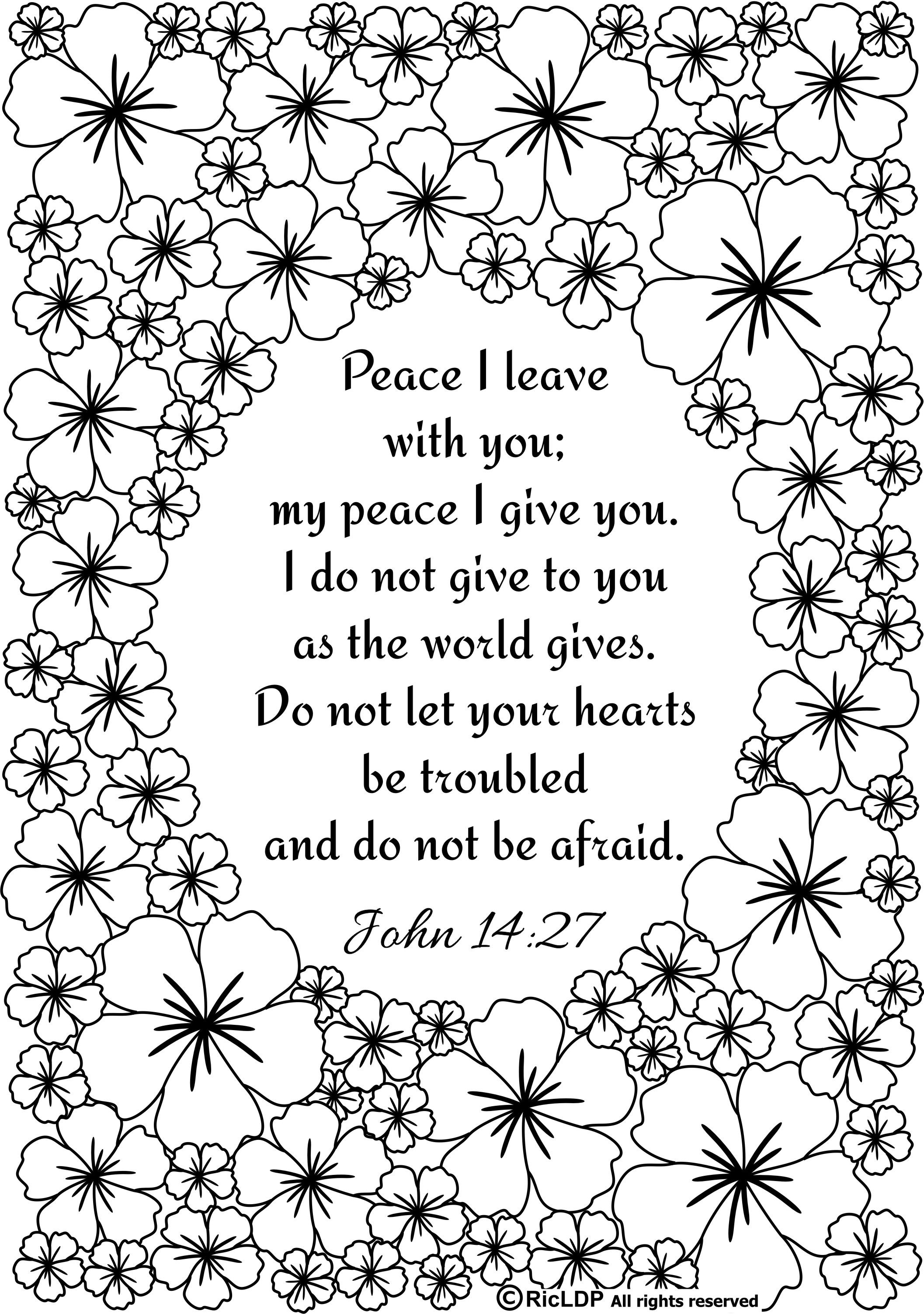 Ricldp Artworks (ricldp) | Quote Coloring Pages, Bible Verse