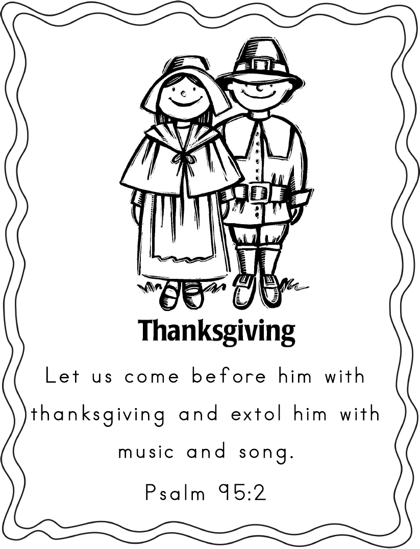 Thanksgiving Coloring Pages Scripture | Coloring Sheets