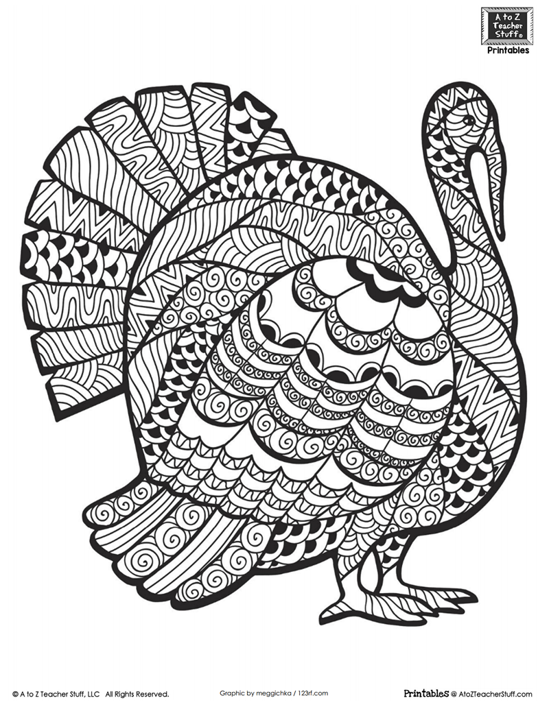 Advanced Coloring Page For Older Students Or Adults