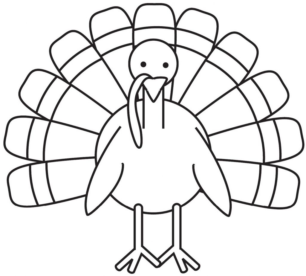 Turkey Coloring Pages For Preschoolers Photo - 4 - Coloring