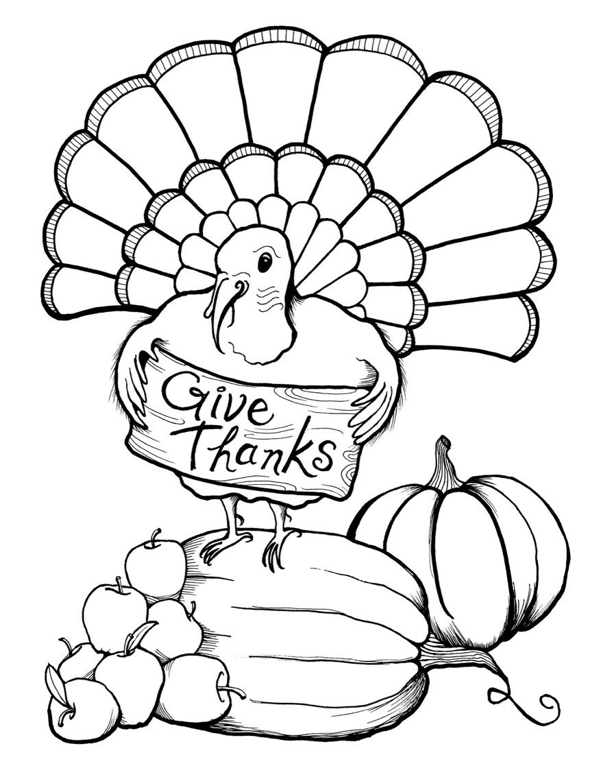 Thanksgiving Coloring Page | Thanksgiving Printable's For
