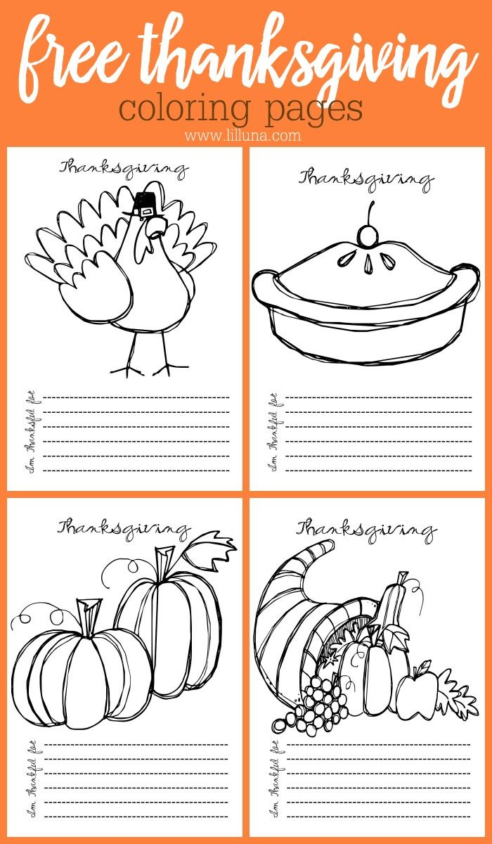 Free Printable Thanksgiving Coloring Pages | Thanksgiving