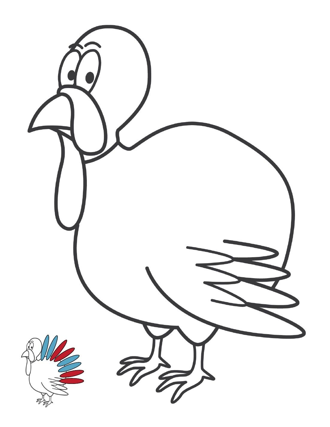 Turkey Feather Coloring Pages | Thanksgiving | Coloring