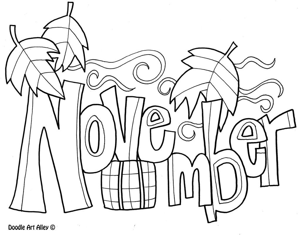 November Coloring Pages For Kids | Coloring | Fall Coloring