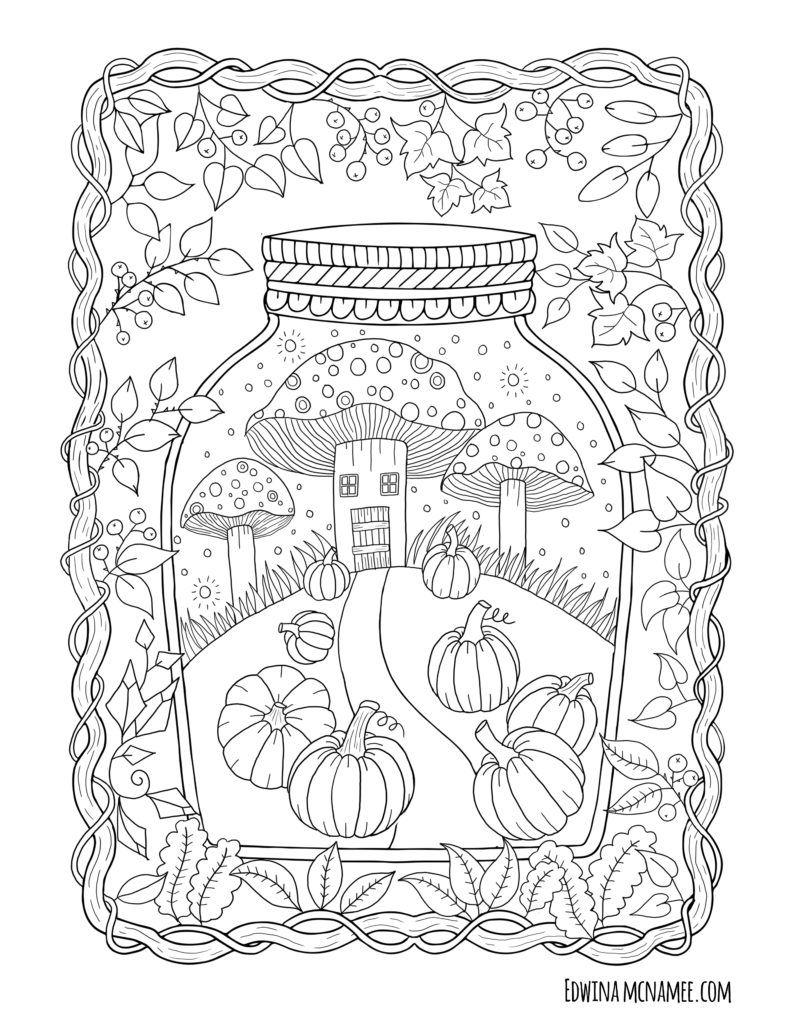 Autumn Magic – Edwina Mc Namee   Coloring Books   Fall