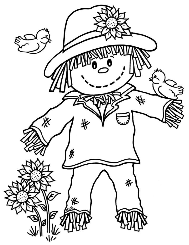Little Scarecrow Freebie #15 | Fall Ideas | Fall Coloring