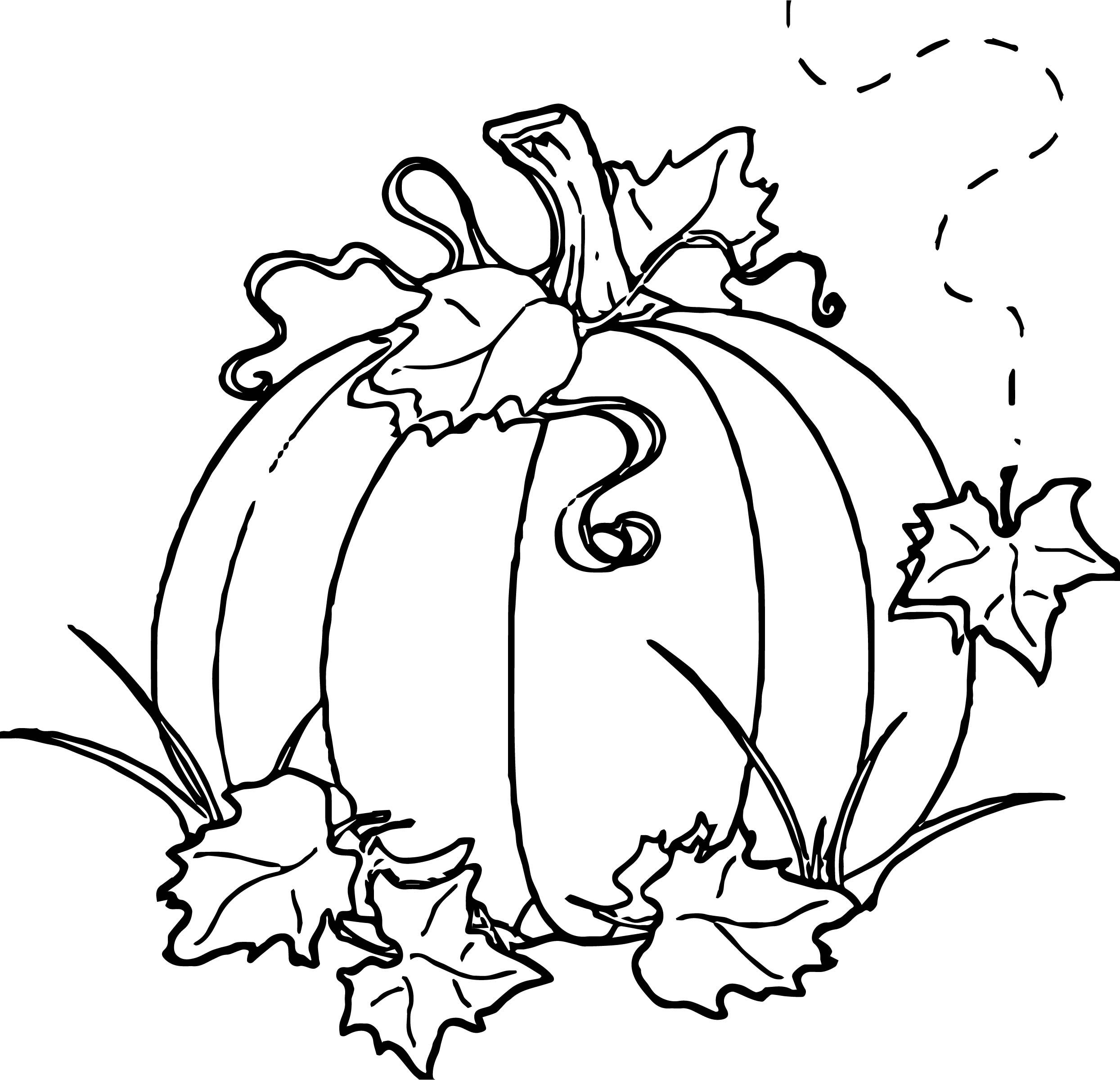 Awesome Free Autumn Pumpkin Coloring Page | Colored Pencil