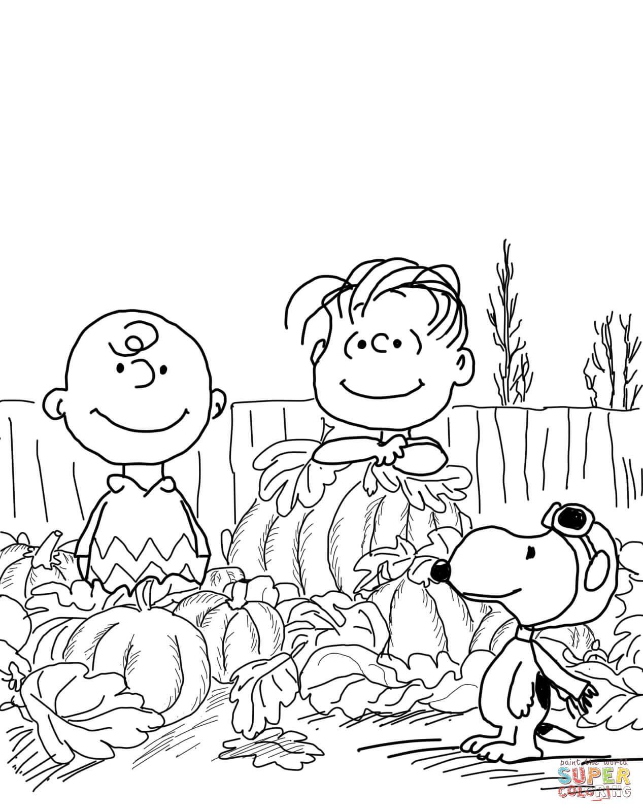 Great Pumpkin Charlie Brown Coloring Page | Free Printable