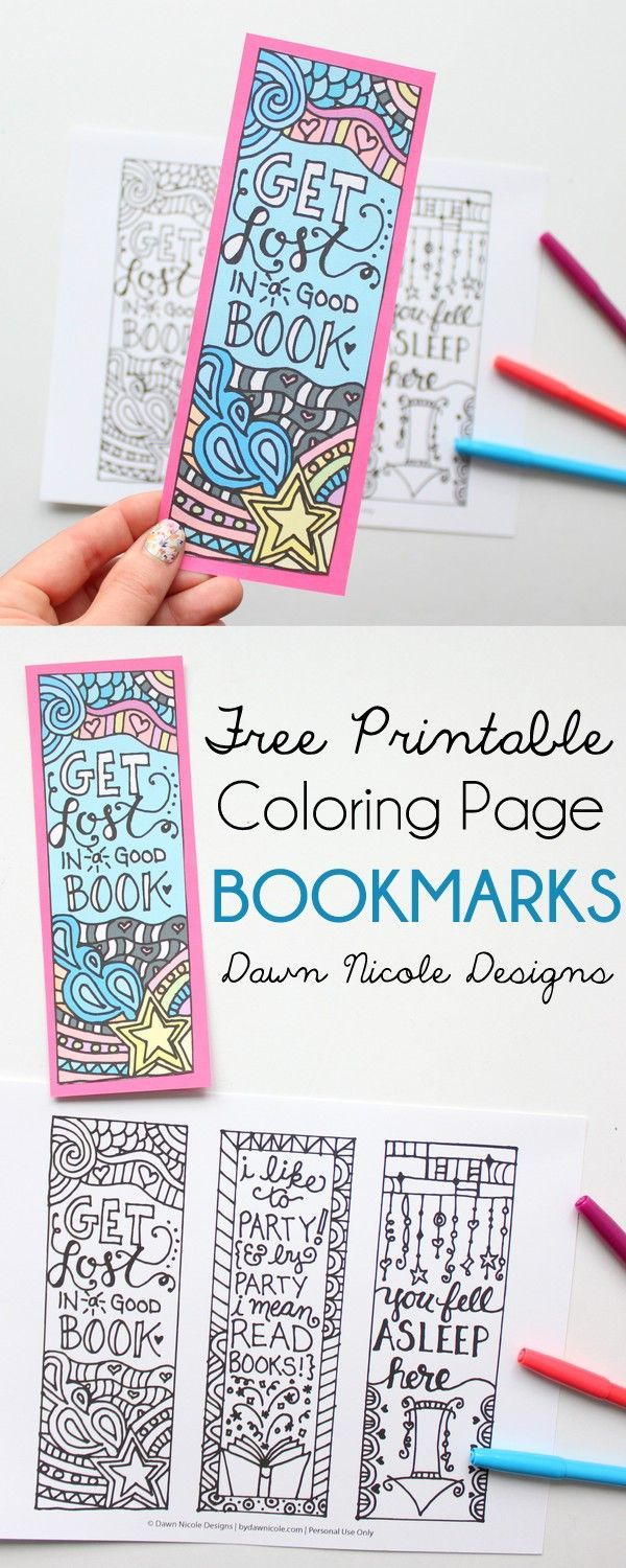 Free Printable Coloring Page Bookmarks | Improving Bms