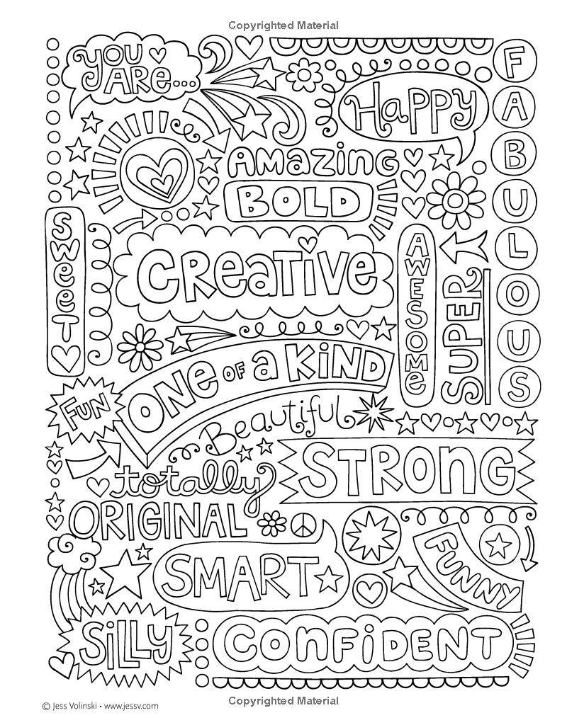 Notebook Doodles Go Girl!: Coloring & Activity Book: Jess