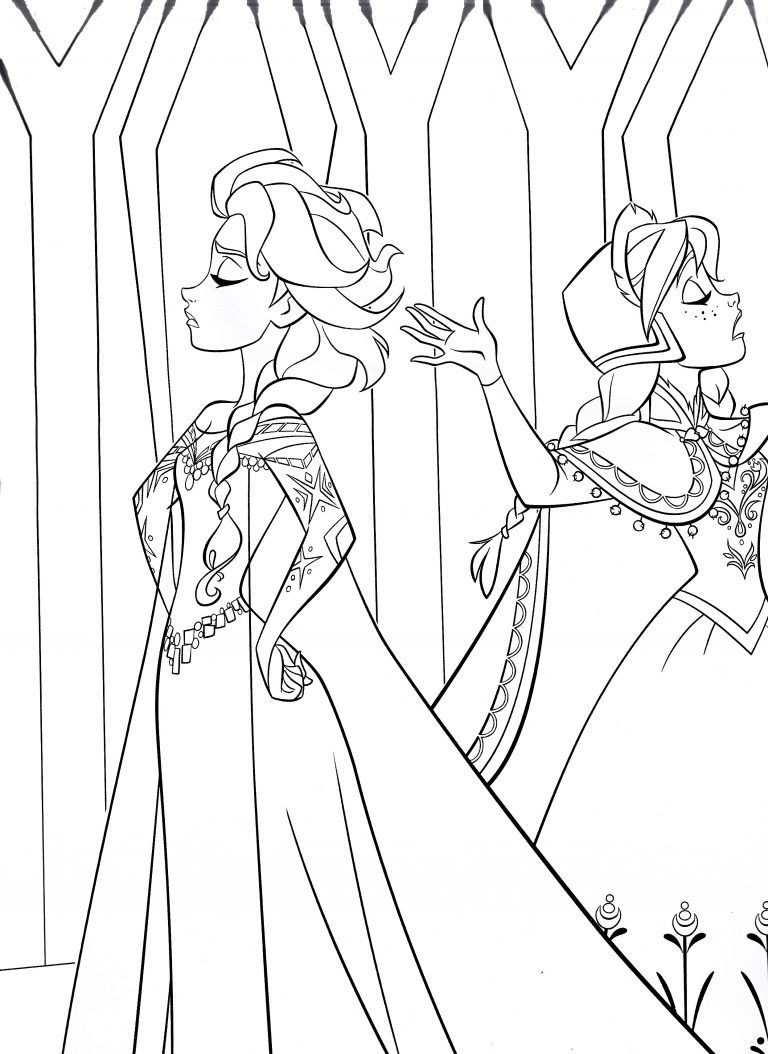 Free Printable Frozen Coloring Pages For Kids   Stuff