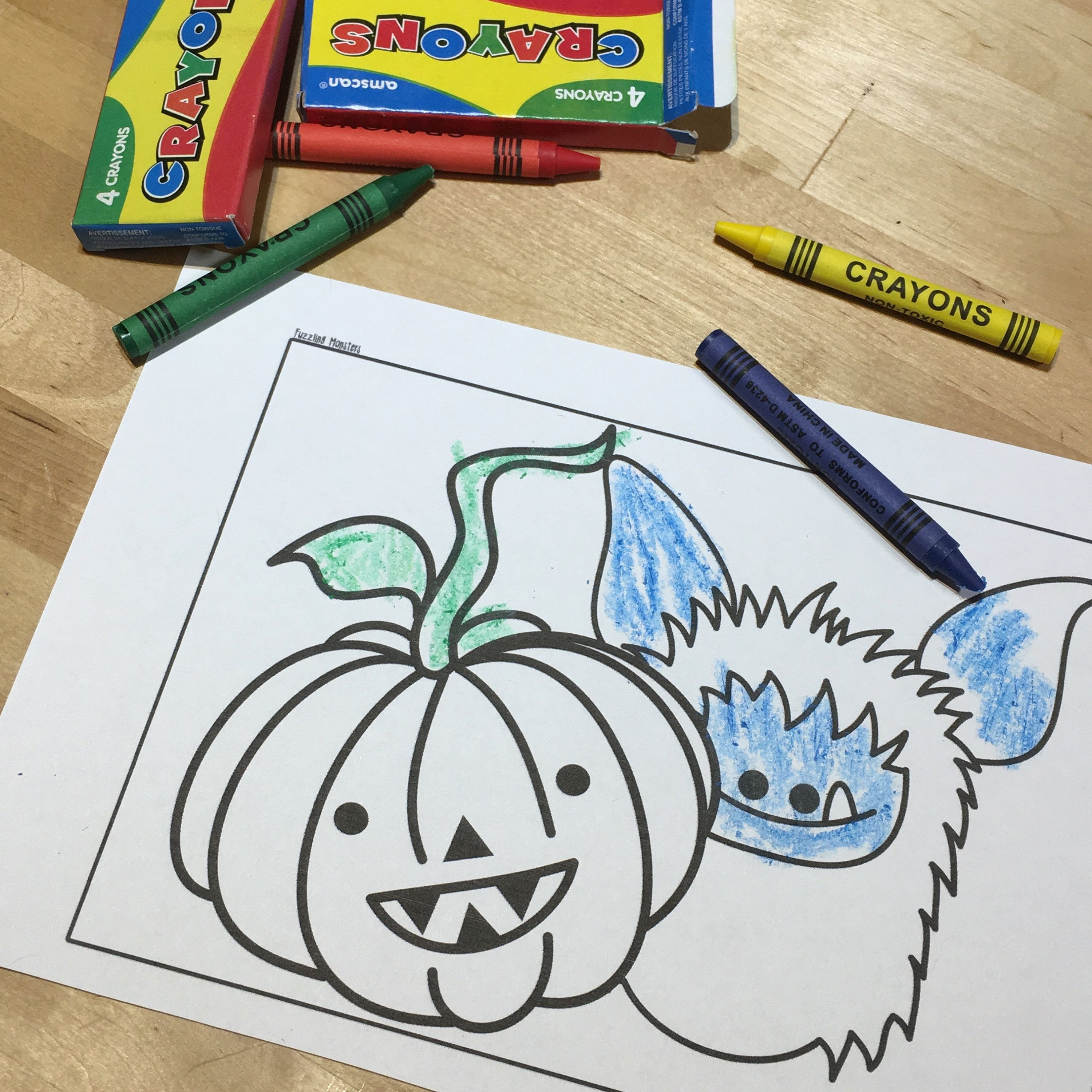 Fuzzling Colouring Pages For Kids - Coloring Pages Download