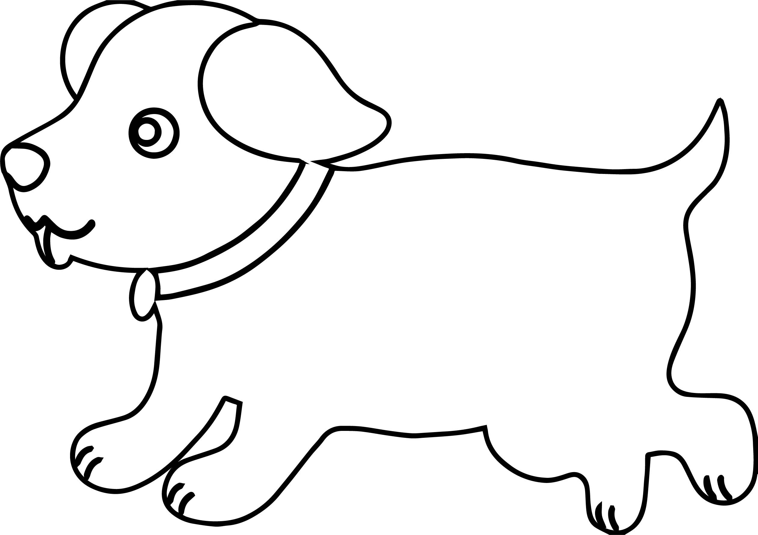 Awesome Puppy Outline Dog Puppy Coloring Page