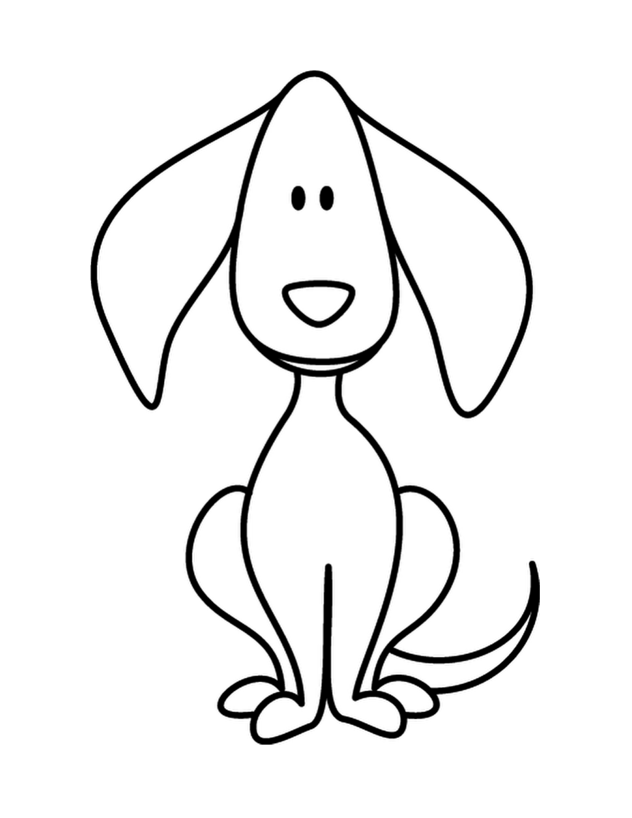 Puppy Dog Doodle Coloring Page | Coloring- - Clipart Best
