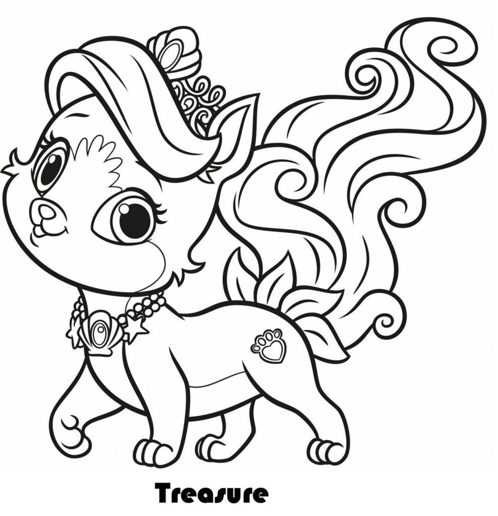 Treasure From Palace Pets Coloring Pages | Animalute | Puppy