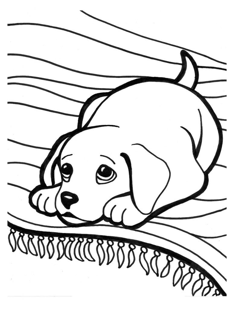 Puppy Coloring Pages | Crafts | Dog Coloring Page, Puppy