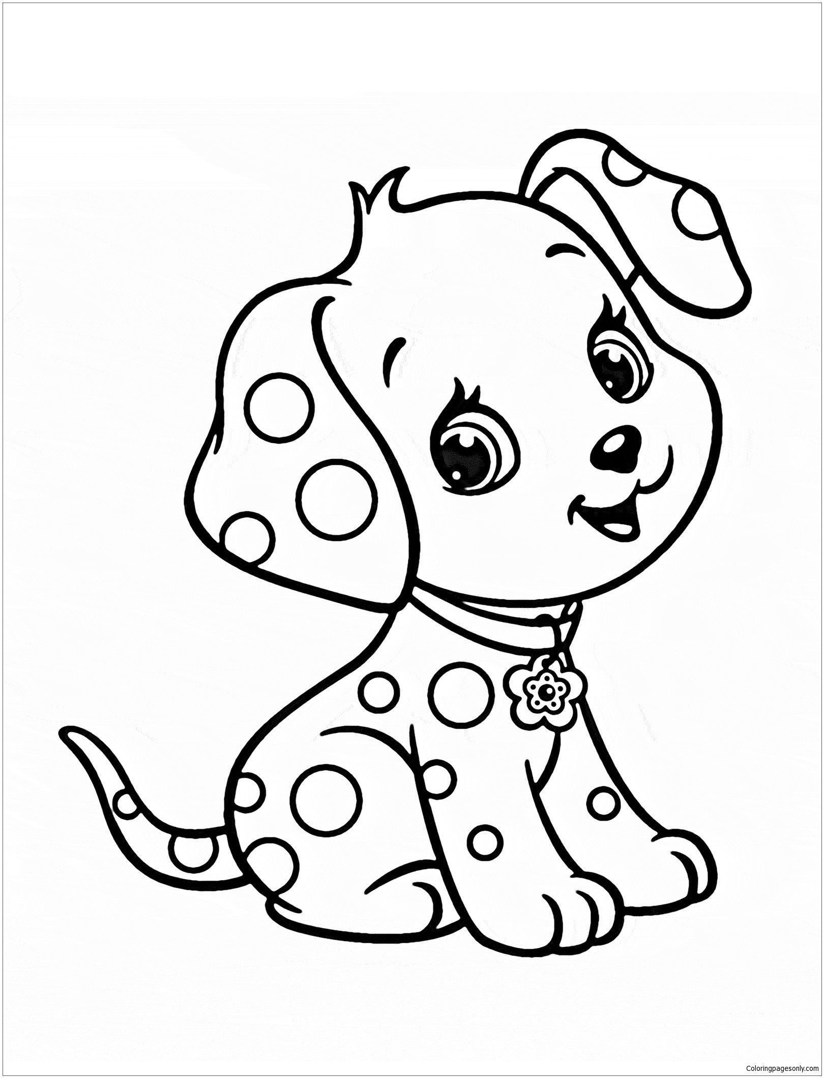 Cute Puppy 5 Coloring Page Puppy Coloring Pages Puppy