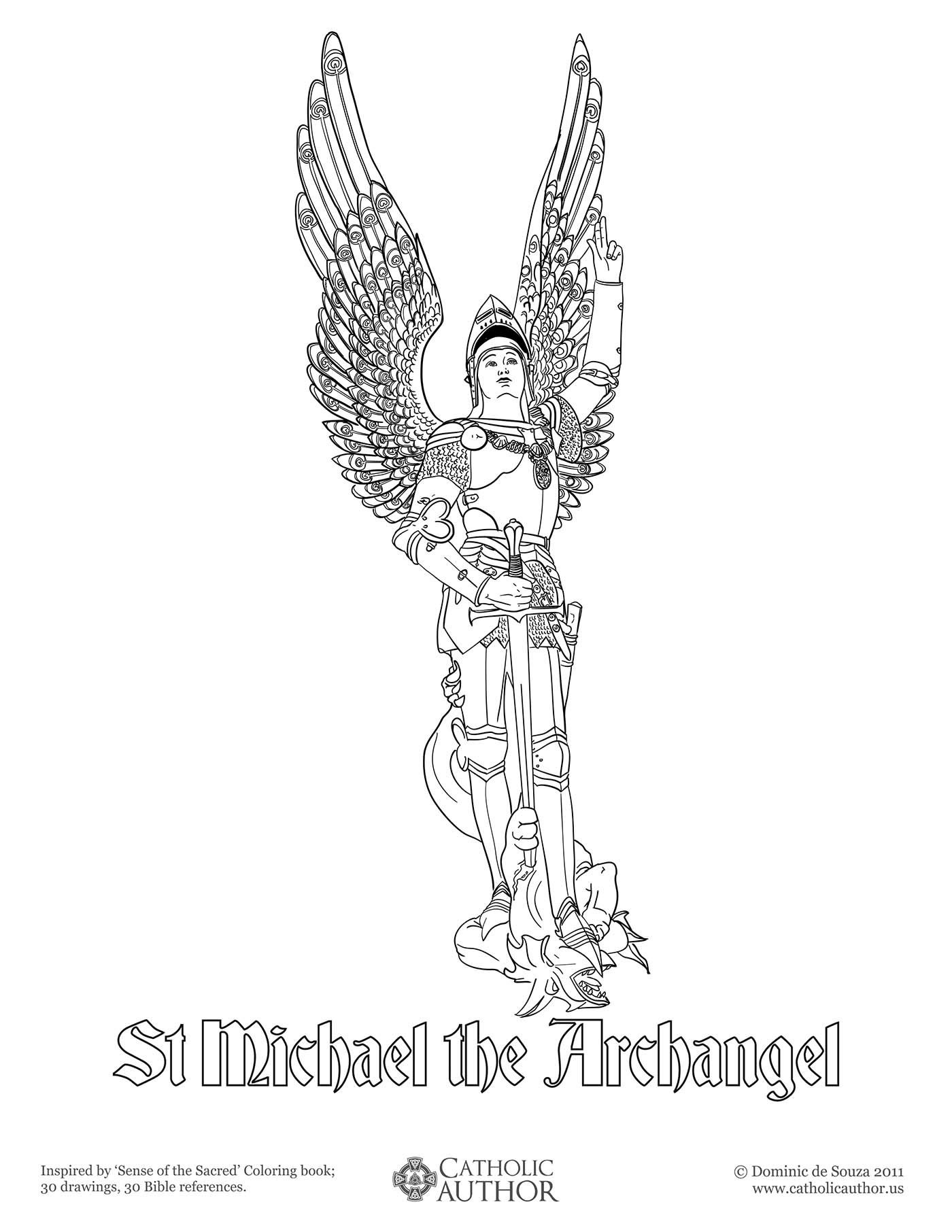 12 Free Hand-drawn Catholic Coloring Pictures   St Marys