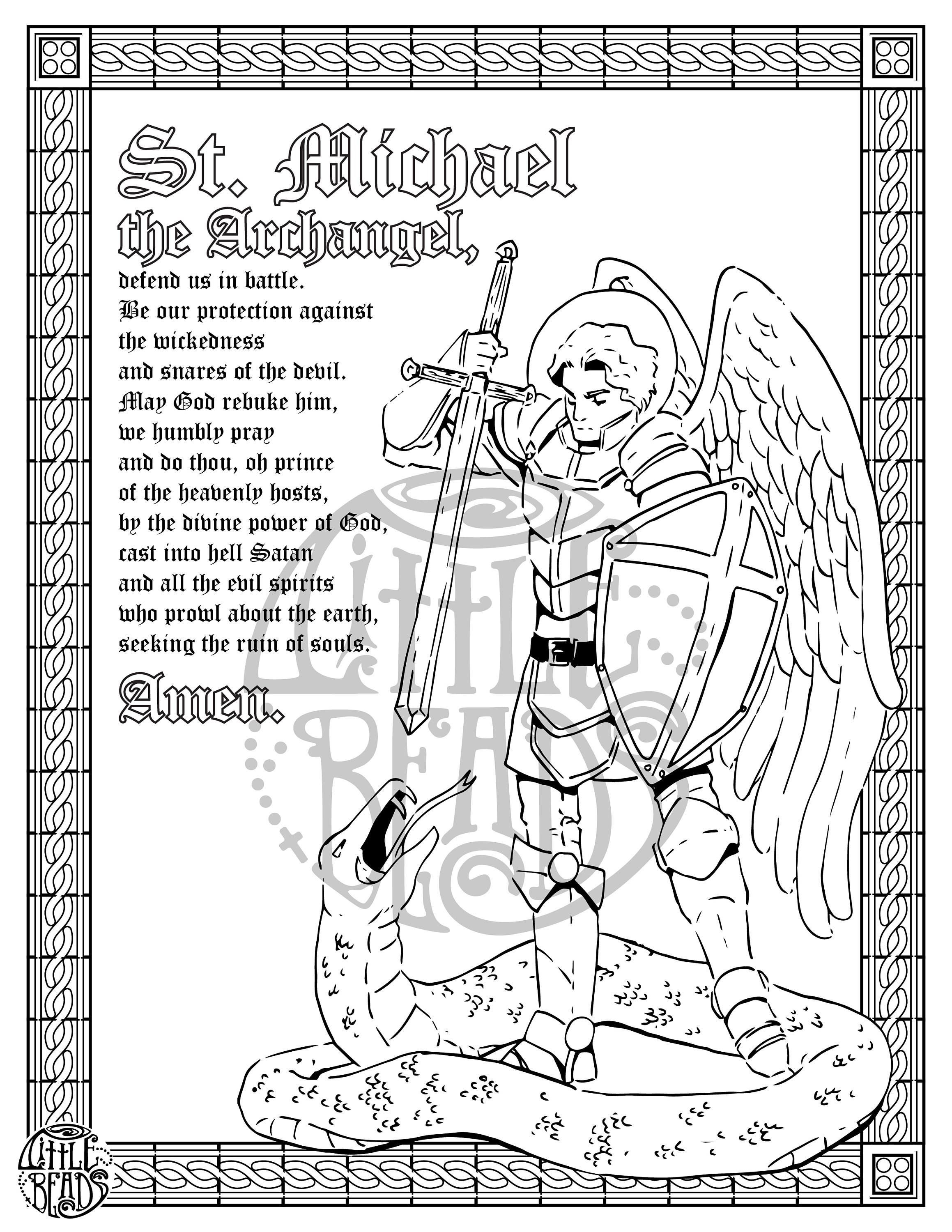 St Michael Printable | Coloring Pages | Coloring Pages