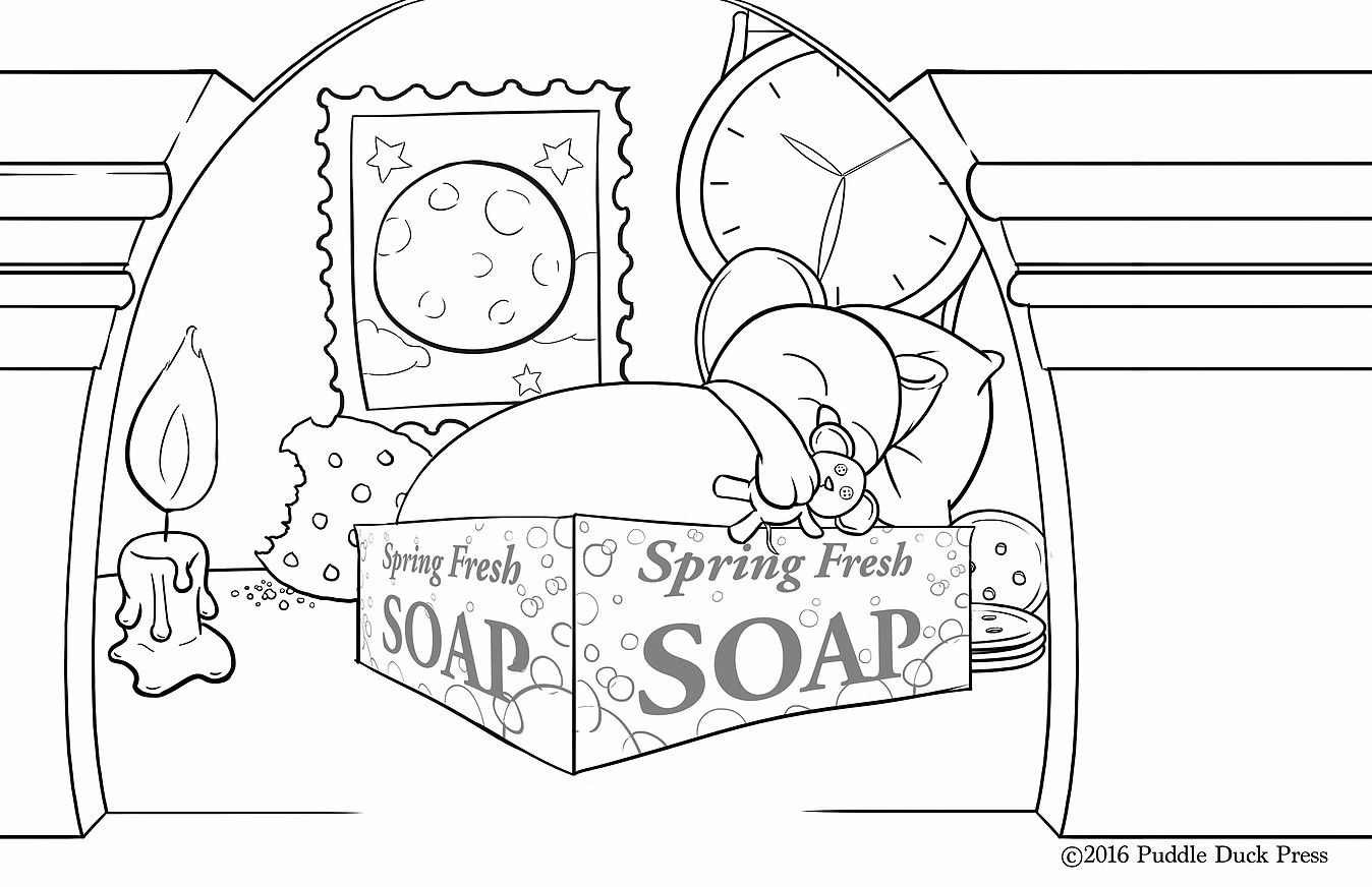 Mouse Is Sleeping' Coloring Page From 'which Is My Bed?' For