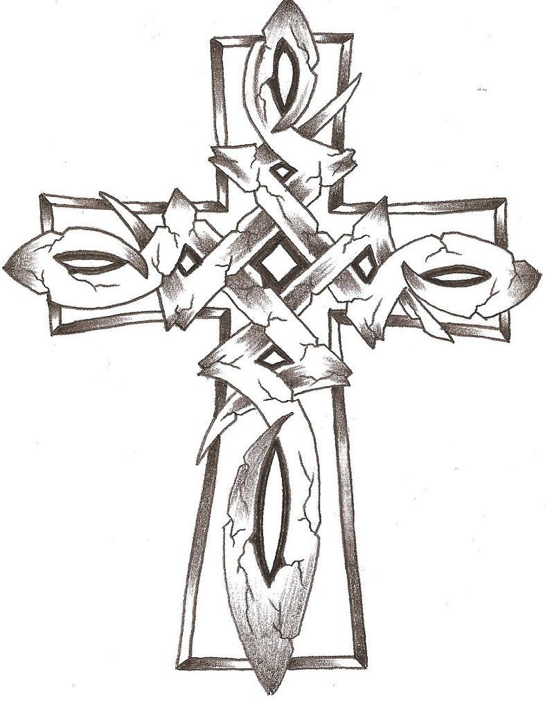 Pin By William O'hearon On Tattoos | Cross Coloring Page