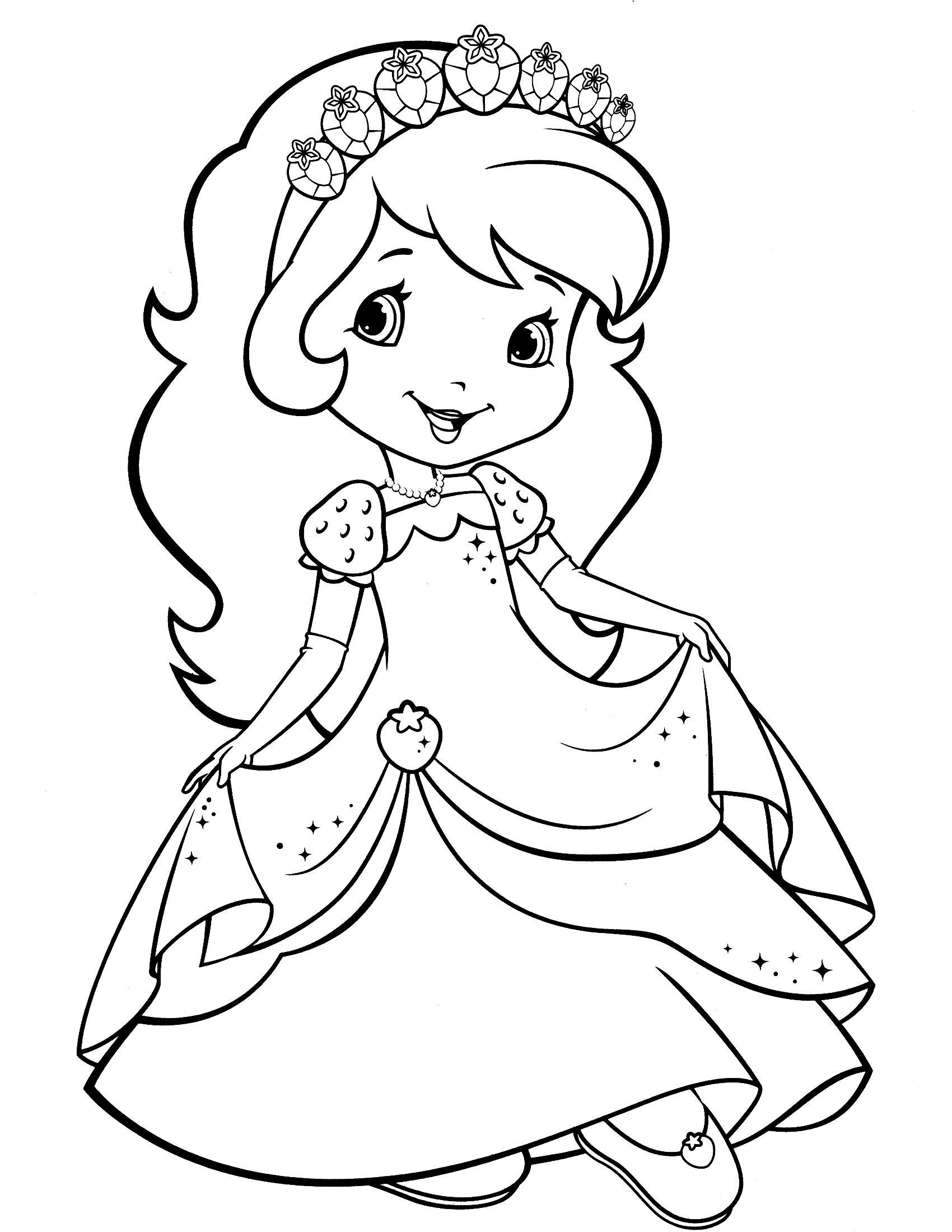 Strawberry Shortcake Coloring Page   Coloring   Strawberry