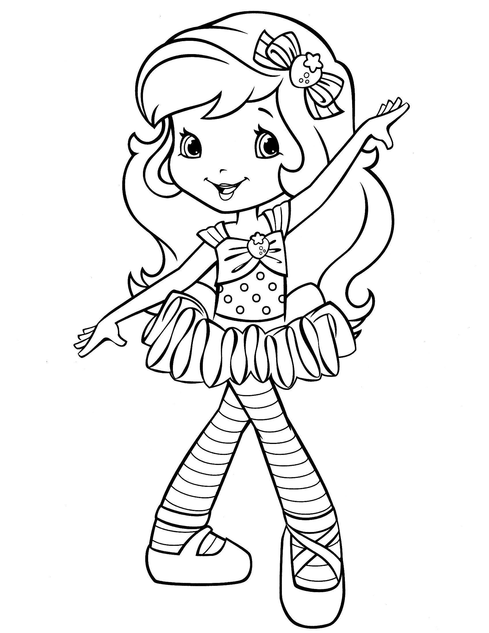 Strawberry Shortcake Coloring Page | Lenka Malovã¡nã