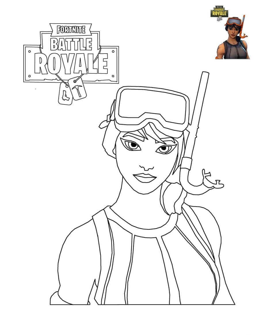 Fortnite Characters Coloring Pages | Kids Birthday Party In