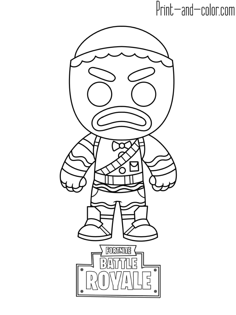 Fortnite Battle Royale Coloring Page Gingerbread   Drawings