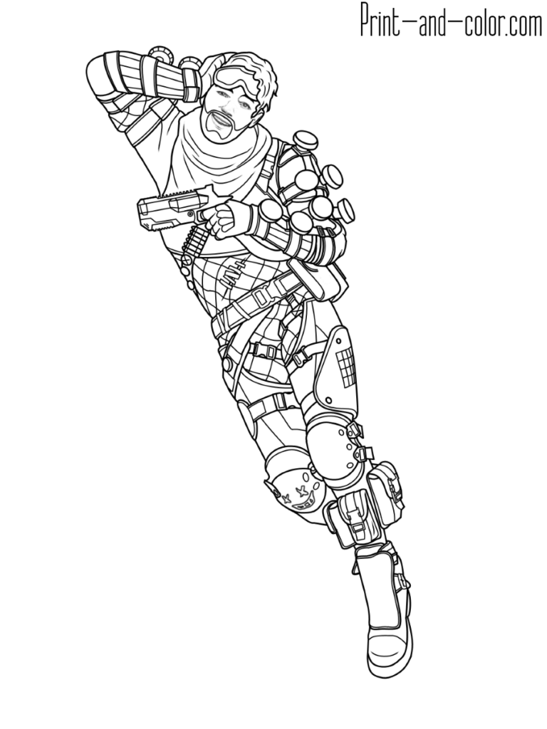Apex Legends Coloring Page Mirage | Art Drawings In 2019