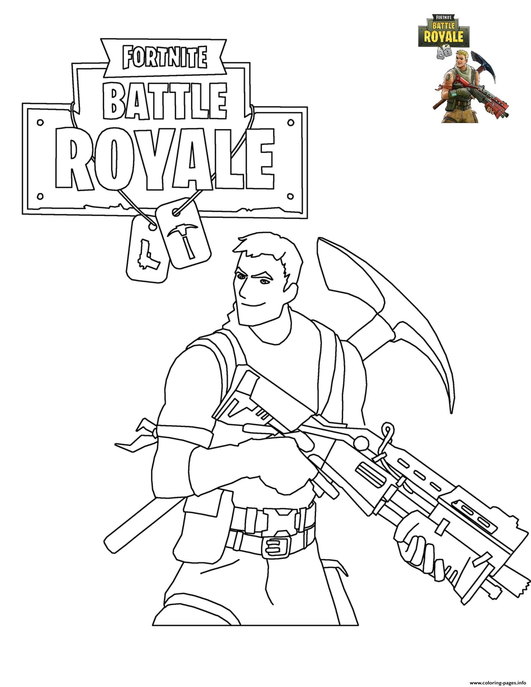 Print Fortnite Battle Royale Coloring Pages | Party In 2019
