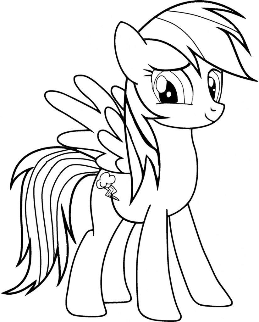 Rainbow Dash Coloring Pages | Cartoon Coloring Pages | My