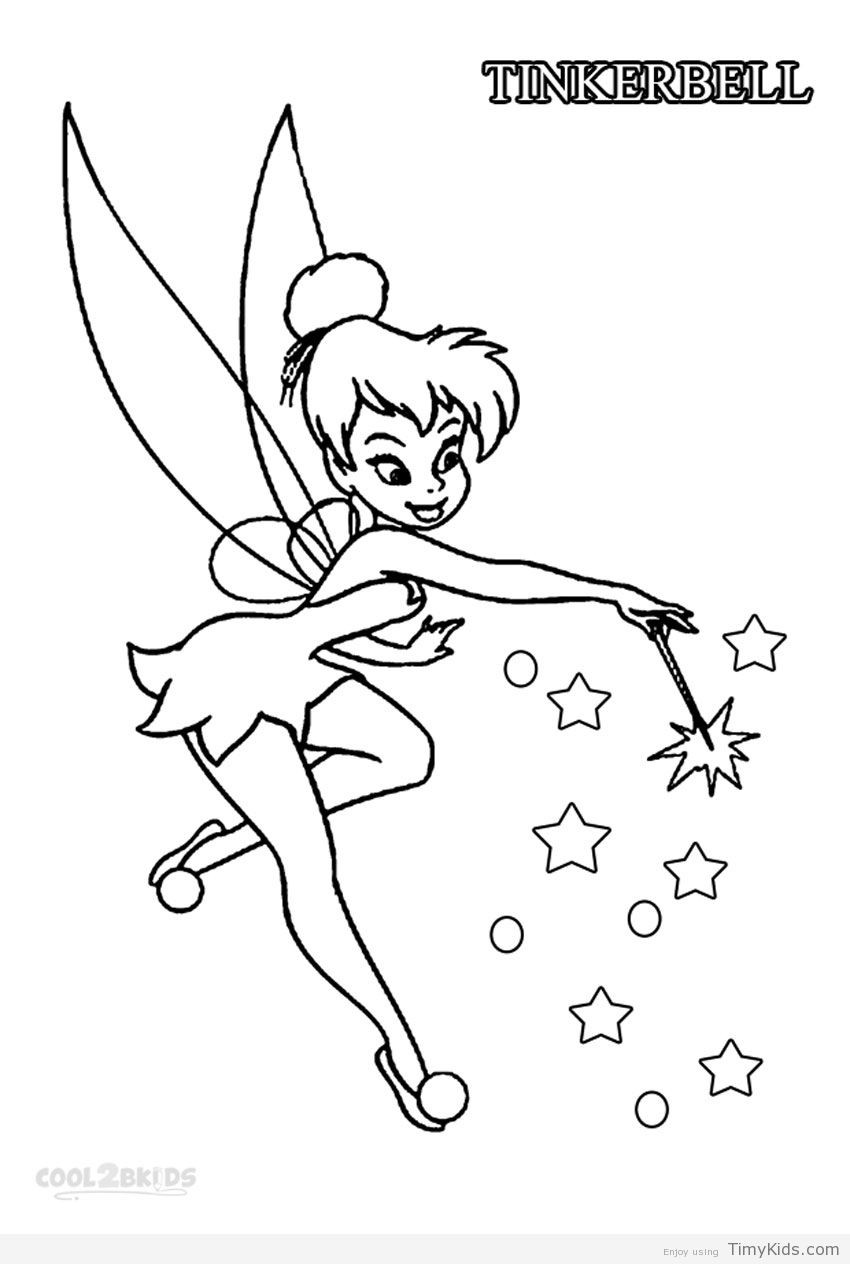 Pin By Julia On Colorings   Tinkerbell Coloring Pages, Fairy