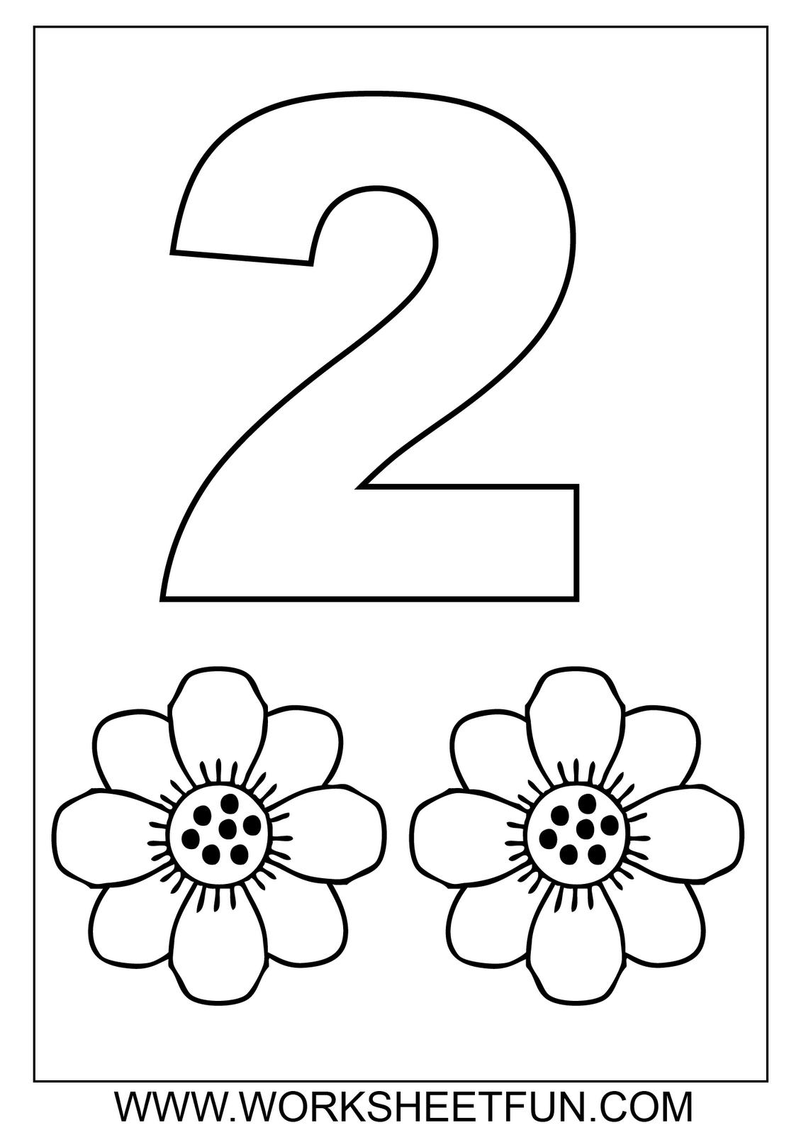 Free Math Worksheets-number Coloring | Numbers Preschool