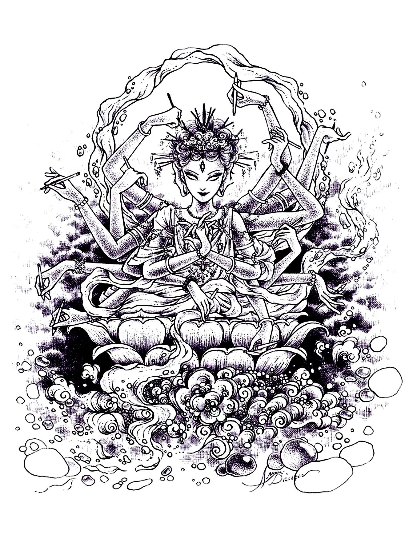 Free Coloring Page â«coloring-india-drawingâ» | Adult