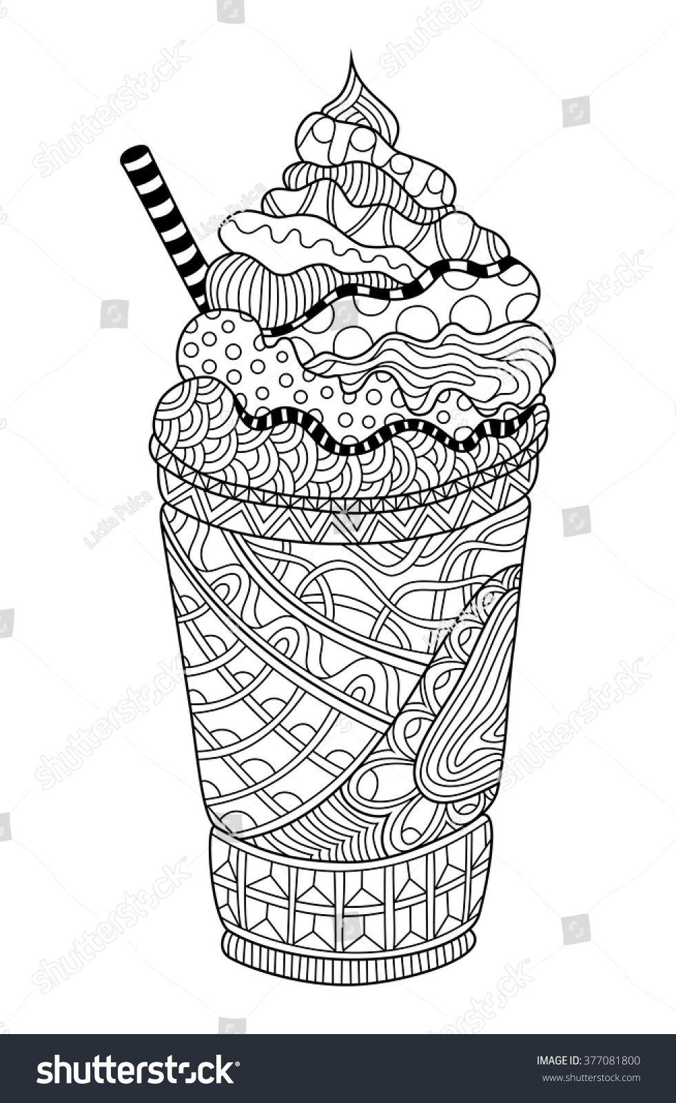 Latte Coloring Book Illustration #sponsored , #spon
