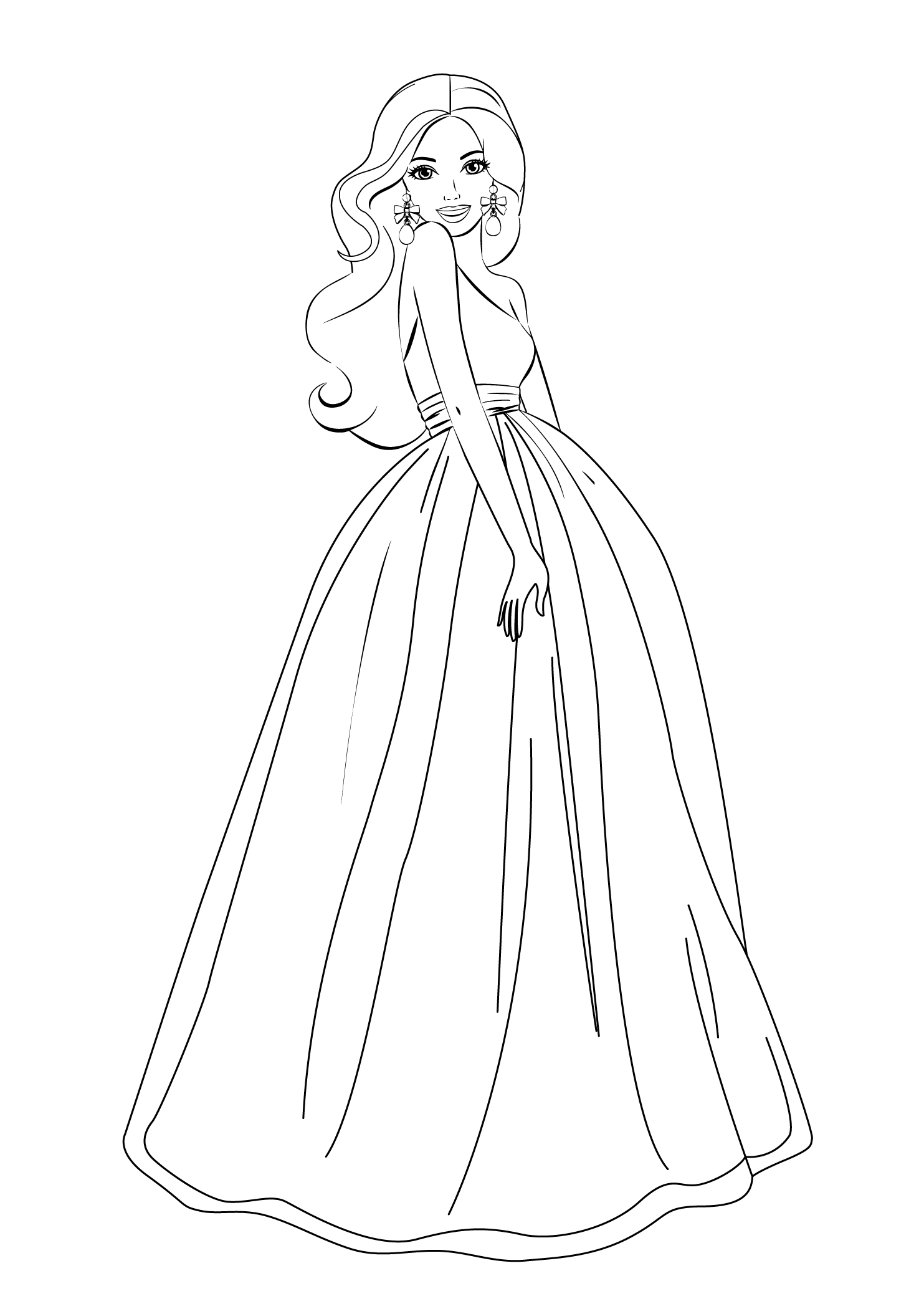 Barbie Coloring Pages For Girls Free Printable   Princess